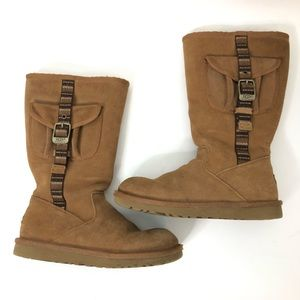 UGG Cargo Zip Up Buckle Tall Boots Size 4